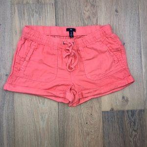 coral gauze GAP shorts